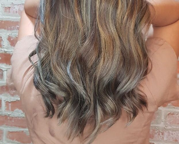 Donna's new ash blonde highlights